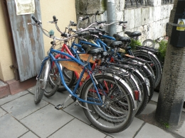 These are our bikes, taking a rest while we eat lunch., JON H - June 2010