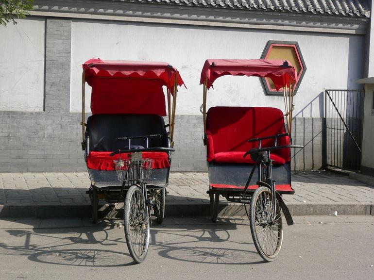Twin Chinese Rickshaws - Beijing