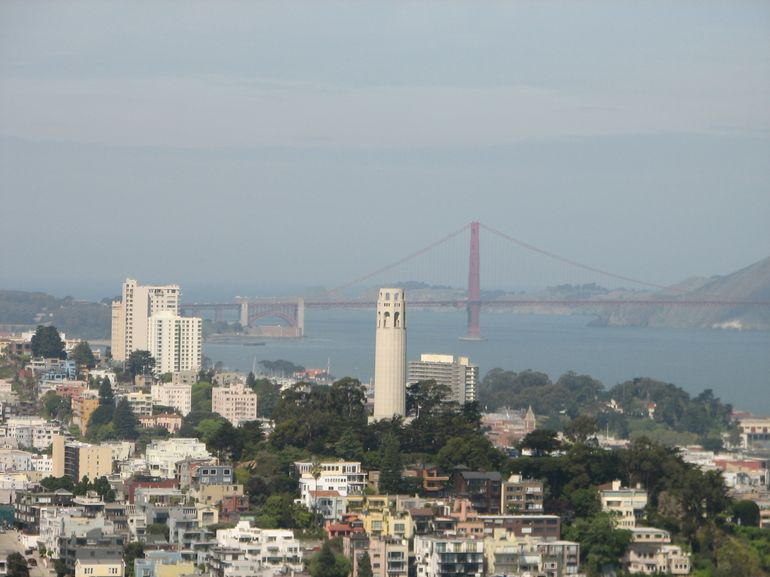 View of the Coit Tower - San Francisco