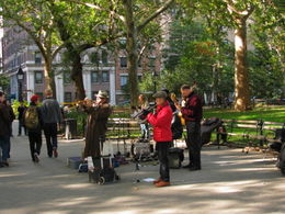 Jazzing it up in Washington Square, Oct 2012 , Jan - October 2012