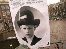 Poster found near canal , Rachel Y - December 2016