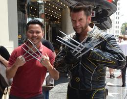Me and Hollywood Wolverine! , JONATHAN E - May 2017