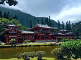 Visiting the Byodo-In Buddhist temple in Oahu, Hawaii. , Lisa P - September 2017