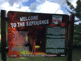 Welcome sign to Green Grotto Caves , barbara - January 2018