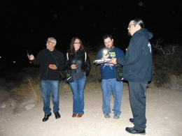 Tour Guide and participants with orbs overhead. , Jeffrey B - February 2018