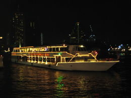 Magical twinkling lights on the cruise boat , Andrew P - April 2012
