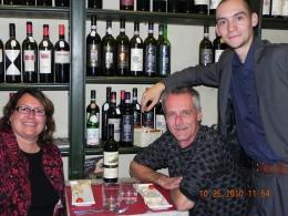 My wife and I seated with our host Zeno. Turned us into Chianti lovers., Jeff W - November 2010