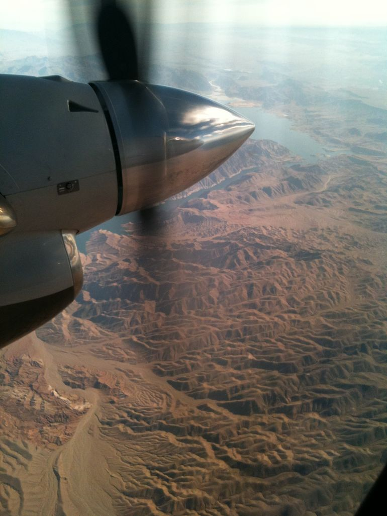From our plane - Las Vegas