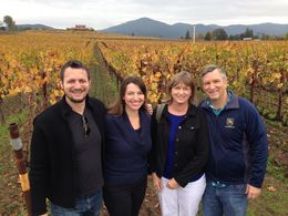 Group shot at the beautiful Judd's Hill winery, Trina Tron - December 2014