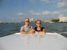 Steve and Joanne on their last Grand Canal ride in a private water taxi. Now this is Venice at its finest. , Joanne.L.Johnson - September 2015