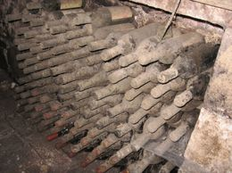 In the cellars where the casks of wine were stored, I discovered some old bottles of wine - October 2009