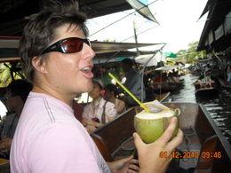 Steve sipping a 1 dollar coconut!, stevenwarriner - December 2010