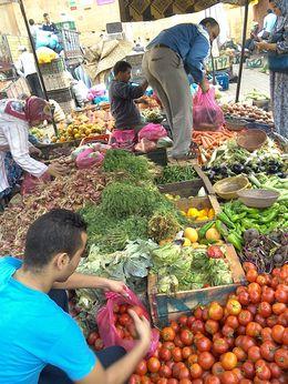 Shopping for the fresh produce in the market , Becks - September 2015