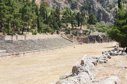 Top of the site at Delphi is the stadium. Quite a trek up the hill but great views from here. , cab0118 - July 2011