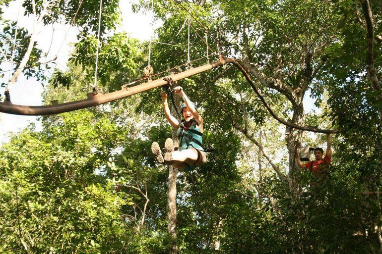 The Avatar! Roller Coaster zipline - Cancun