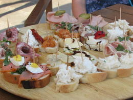 Selection of cicchetti in second venue we visited , Rebecca V - July 2017