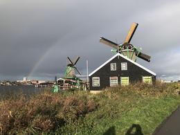 Even on a overcast / rainy day Zaanse Schans Windmills look wonderful , Carlos A - November 2017
