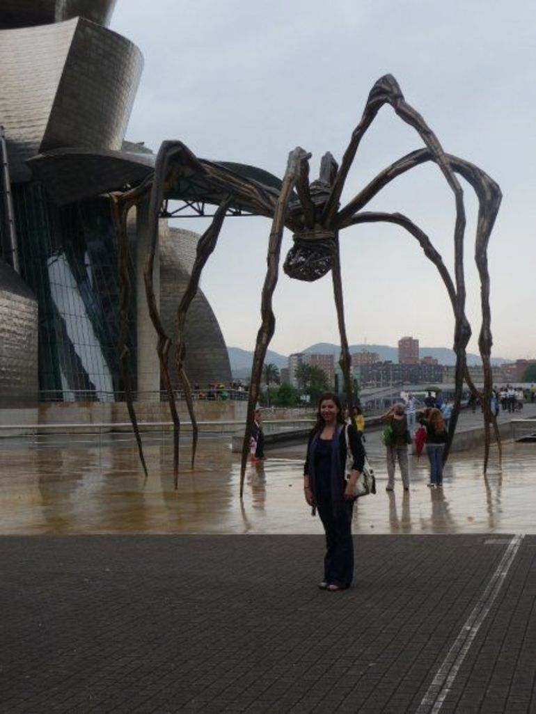 Giant spider sculpture outside the Guggenheim - Bilbao