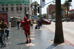 Walking down Hollywood Blvd., Amber B - June 2008