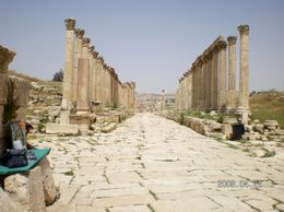 The longest, best preserved Cardo (main street) we saw in the Middle East -- this is only 1/2 of it., Cheryl W - May 2008