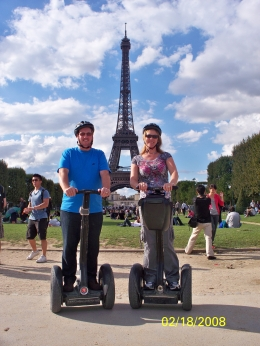 Andy and fiona on segway tour by Eiffel Tower, Fiona B - September 2010