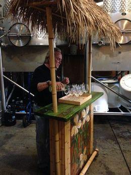 Tasting in the barrel room, Trina Tron - December 2014