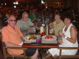 The happy travellers dining out , S Mann M - October 2015