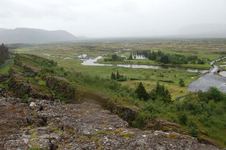 The valley in Thingvellir National Park, Iceland - Reykjavik