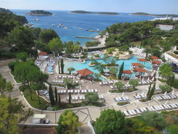 Fabulous view out the window of our hotel in Hvar overlooking the Adriatic Sea , Robert C - July 2015