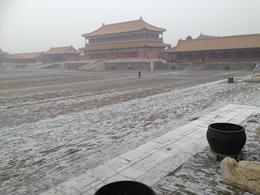 It snowed on our visit to the Forbidden city, so we didn't move too slowly! , Judith S - January 2017