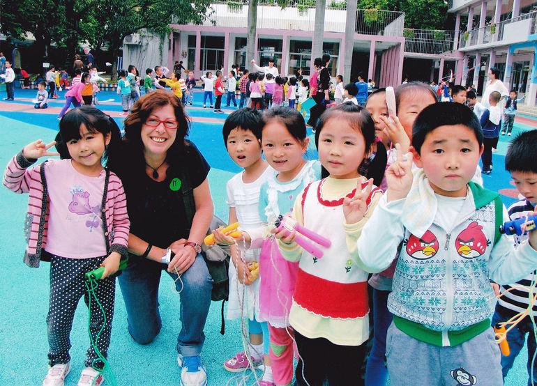 Chinese Kindergaten visit - Hong Kong