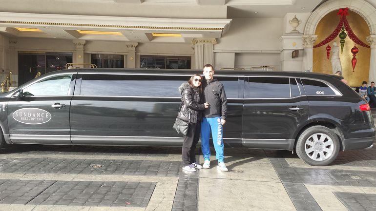 D�part en limousine - Las Vegas