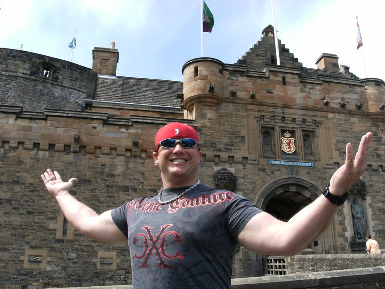 Enjoying Edinburgh Castle - London