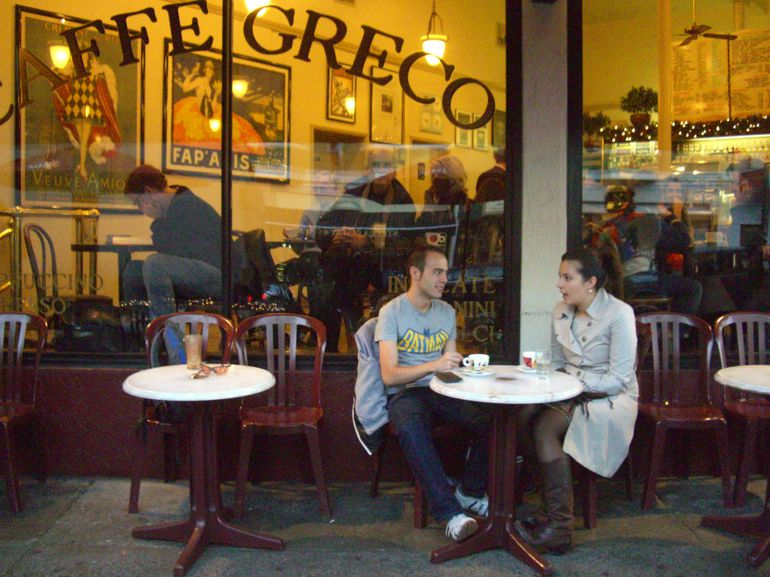 Friends at Caffe Greco North Beach - San Francisco