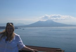High up in Naples over looking the bay with Mount Vesuvius looking amazing, Katie C - August 2010