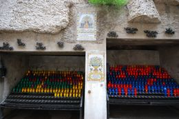 Exiting the black Madonna's chamber and hallways, you are led down a path where you will find many devotional candles for use., Theresanne S - July 2009
