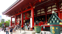 In Asakusa Tokyo. A temple with a large shopping arcade! , C S - August 2013