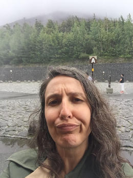 This is me. Sahm Keily. With Mt Fuji behind me, somewhere, among the fog. , Sahm K - September 2016