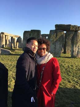 Me and my boyfriend visiting the famous stonehenge monument. The clear sky made the site more beautiful! , Terri Pham - January 2015