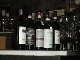 A selection of the wine we sampled, Catherine H - August 2010