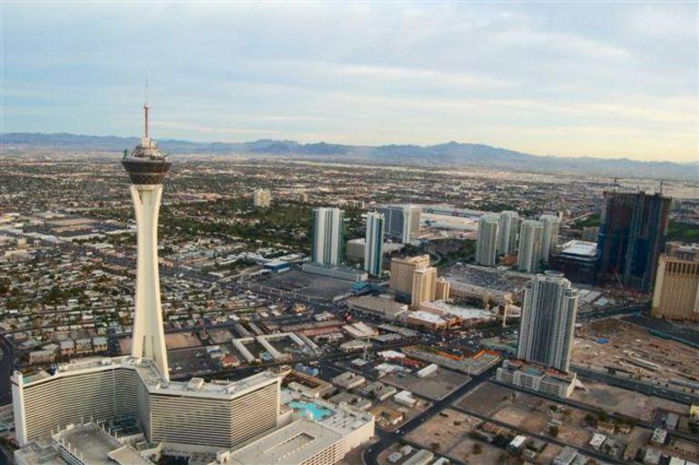 View over Las Vegas. - Las Vegas