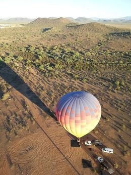 Photo taken from second hot air balloon that had already taken off , Philip P - October 2013