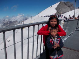 My children were really enjoying snow at Mt Titlis. , Julius H - September 2013