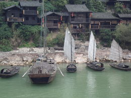 Sailing through the Xiling Gorge, we passed by a Tujia ethnic minority village located on the bank of the Yangtze, which is opened to visitors. , EDMUND C - November 2012
