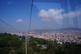 Barcelona seen from the Montjuïc Cable Car gondola , inateletin - July 2017