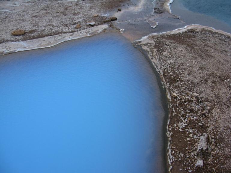 A hot spring pool near Geysir, Iceland - Reykjavik