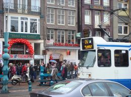 Tram & downtown Amsterdam. - March 2008