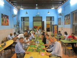 Those plates are banana leaves - July 2012
