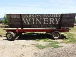 Greeting sign at Larson Family Winery. , Jennifer S - July 2015