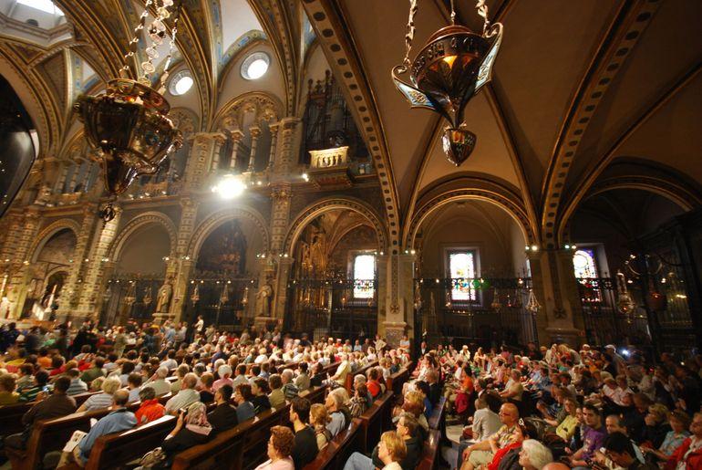Montserrat's Basilica During Mass - Barcelona